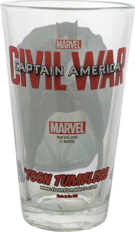 Captain America Civil War Black Panther Pint Glass