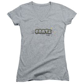 Farts Candy Finger Logo Junior V Neck Athletic T-Shirt