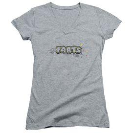 Farts Candy Finger Logo Junior V Neck Athletic T-Shirt