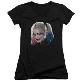Suicide Squad Harley Head Junior V Neck T-Shirt