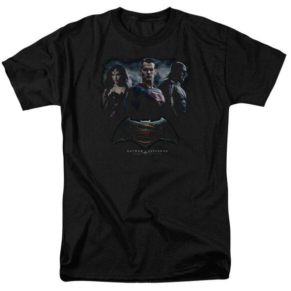 Batman V Superman The Crew Short Sleeve Adult Black T-Shirt