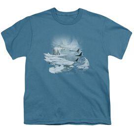 Wildlife Glaciers Egdge Short Sleeve Youth T-Shirt