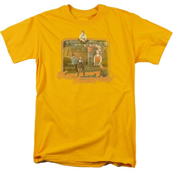 Brady Bunch Have A Very Brady Day! Short Sleeve Adult Gold T-Shirt