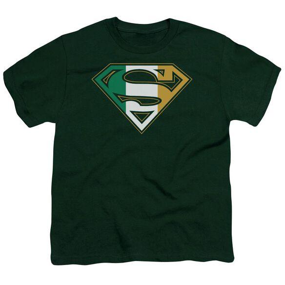 Superman Irish Shield Short Sleeve Youth Hunter T-Shirt