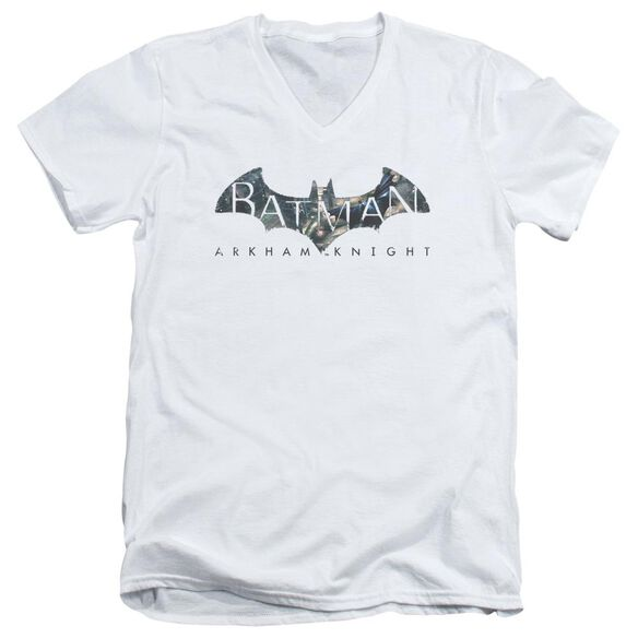Batman Arkham Knight Descending Logo Short Sleeve Adult V Neck T-Shirt