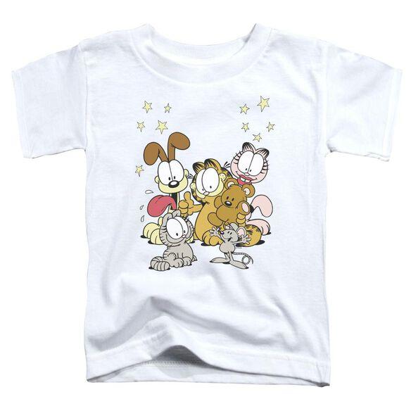 Garfield Friends Are Best Short Sleeve Toddler Tee White Sm T-Shirt