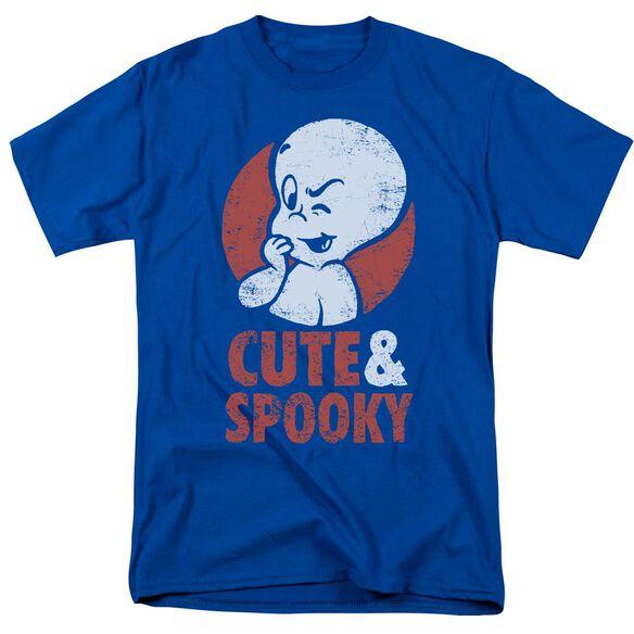 Casper Spooky Short Sleeve Adult Royal T-Shirt