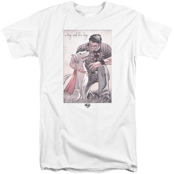 Superman Mans Best Friend Short Sleeve Adult Tall T-Shirt