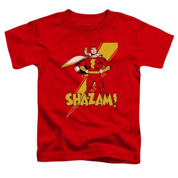 Dc Shazam! Short Sleeve Toddler Tee Red Sm T-Shirt