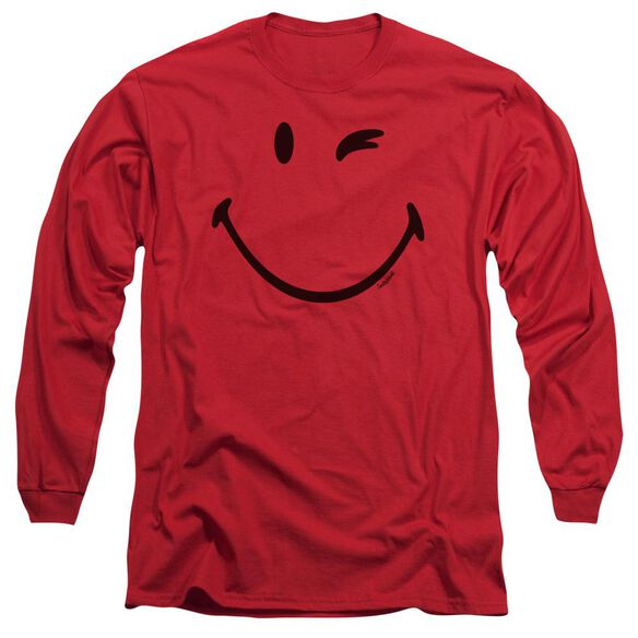 Smiley World Big Wink Long Sleeve Adult T-Shirt