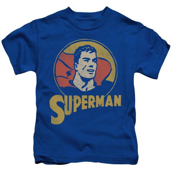 Dc Super Circle Short Sleeve Juvenile Royal T-Shirt