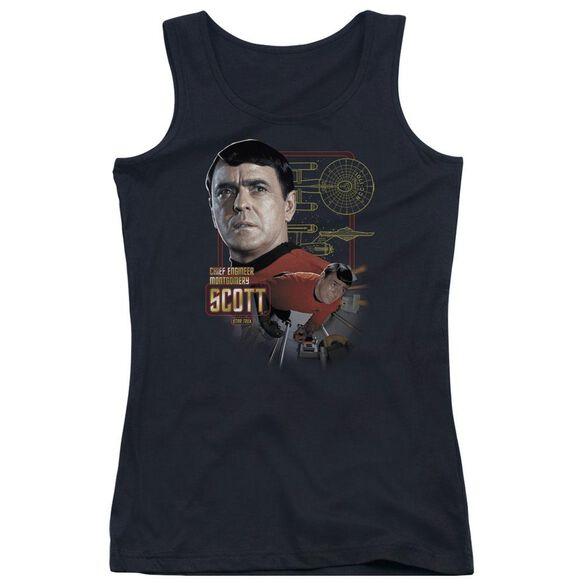 Star Trek Chief Engineer Scott - Juniors Tank Top - Black