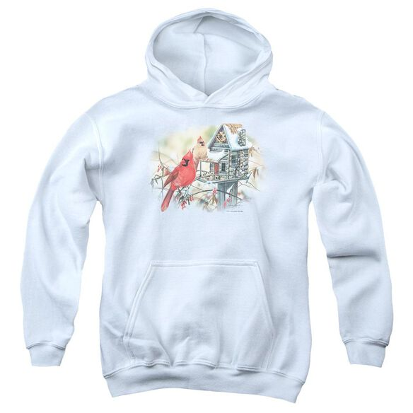 Wildlife Cardinals Rustic Retreat Youth Pull Over Hoodie