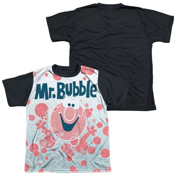 Mr Bubble Clean Sweep Short Sleeve Youth Front Black Back T-Shirt