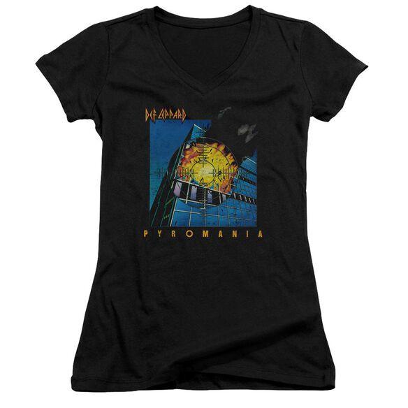 Def Leppard Pyromania Junior V Neck T-Shirt