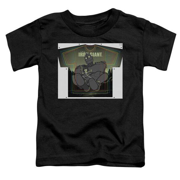 Iron Giant Helping Hand Short Sleeve Toddler Tee Black T-Shirt