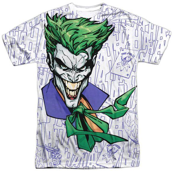 Batman Laugh Clown Laugh Short Sleeve Adult 100% Poly Crew T-Shirt