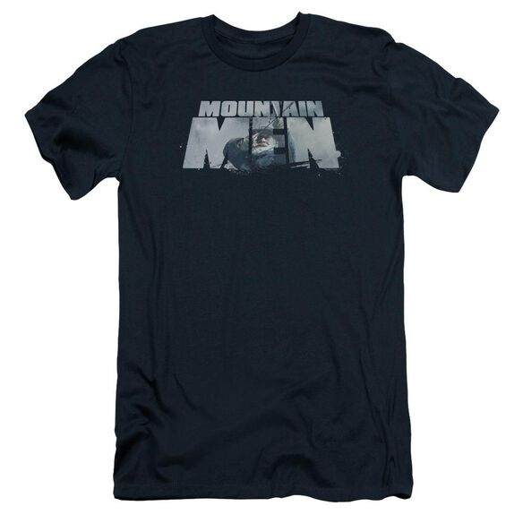 Mountain Men Live For A Living Short Sleeve Adult T-Shirt