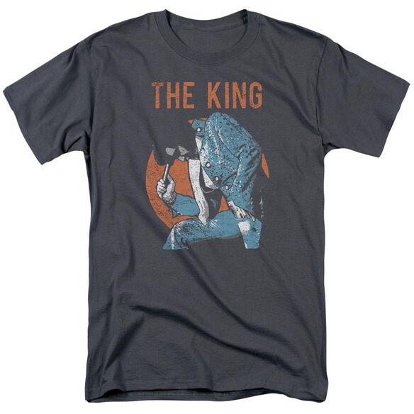 Elvis Mic In Hand Short Sleeve Adult T-Shirt