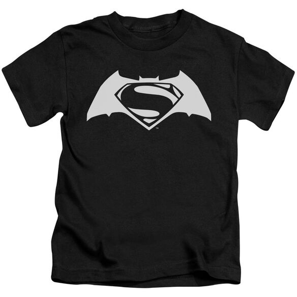 Batman V Superman Simple Logo Short Sleeve Juvenile T-Shirt