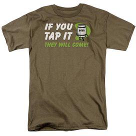 If You Tap It Short Sleeve Adult Safari Green T-Shirt