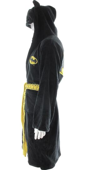 Batman Masked Hood Fleece Black Robe