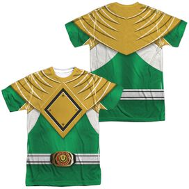 Power Rangers Green Ranger (Front Back Print) Short Sleeve Adult Poly Crew T-Shirt
