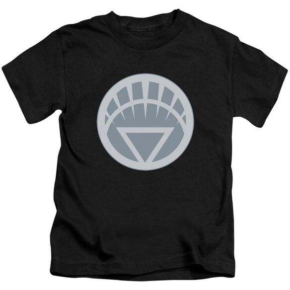Green Lantern White Symbol Short Sleeve Juvenile Black T-Shirt