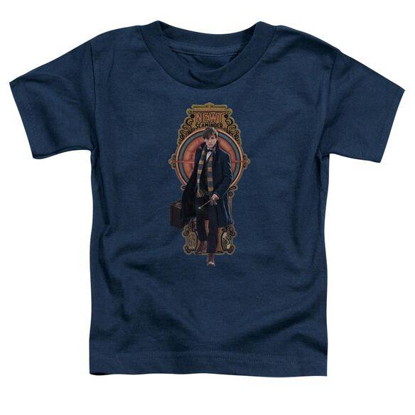 Fantastic Beasts Newt Scamander Short Sleeve Toddler Tee Navy T-Shirt