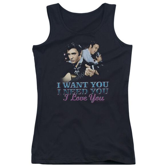 Elvis Presley I Want You Juniors Tank Top