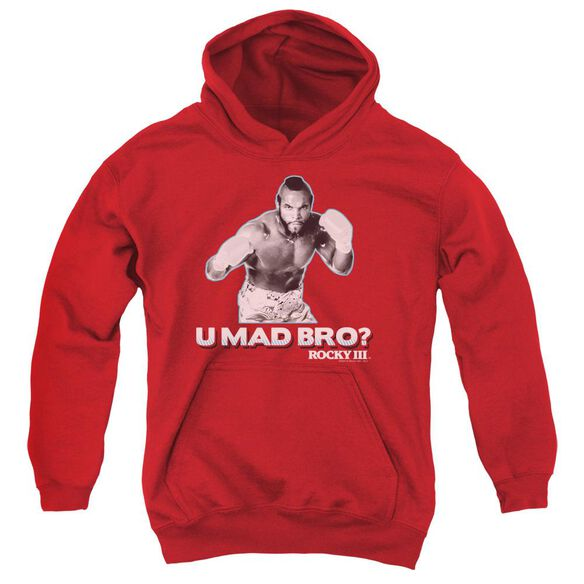 Rocky Iii U Mad Bro Youth Pull Over Hoodie