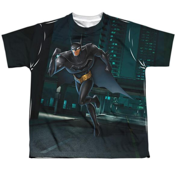 Beware The Batman Run Short Sleeve Youth Poly Crew T-Shirt