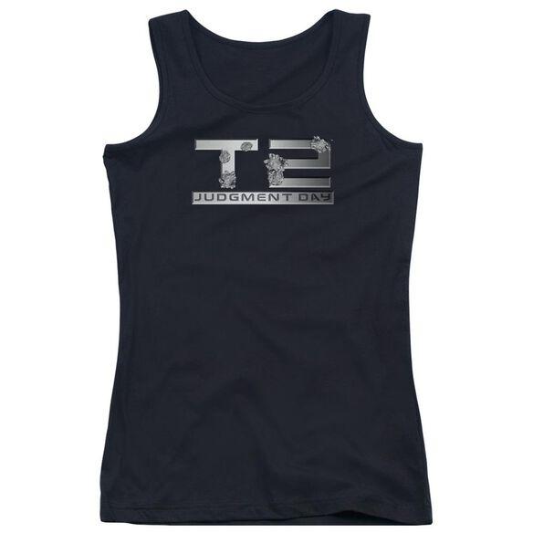 Terminator 2 Gunshot Logo Juniors Tank Top