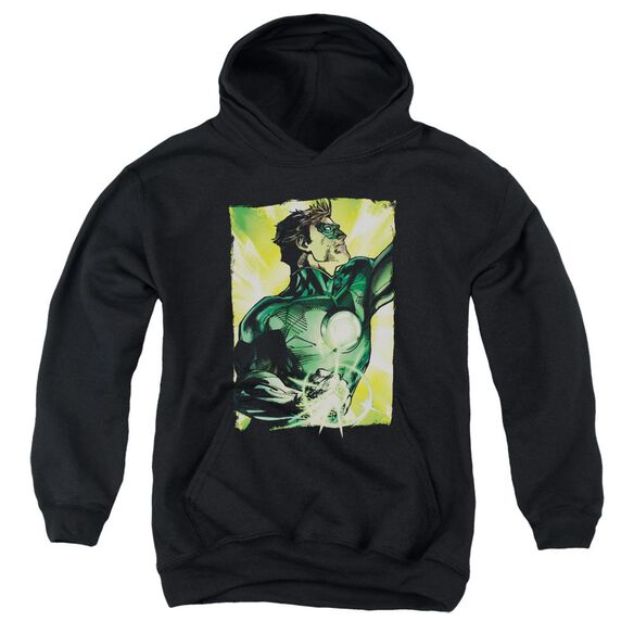 Green Lantern Up Up Youth Pull Over Hoodie