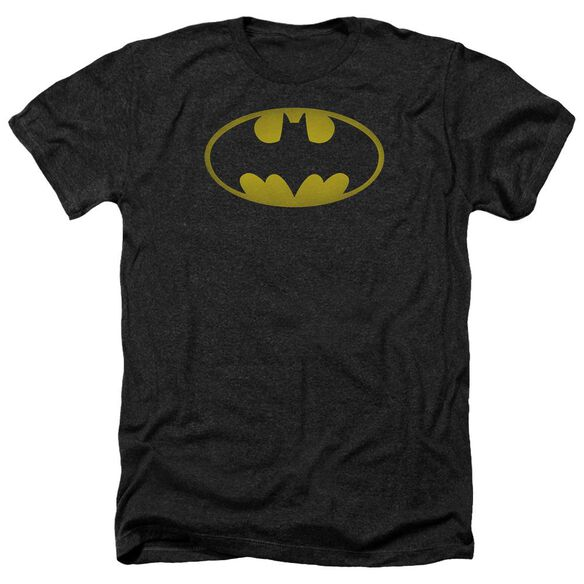 Batman Washed Bat Logo Adult Heather