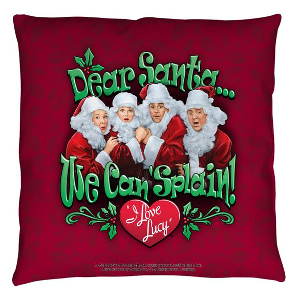 I Love Lucy Dear Santa Throw