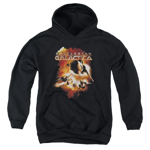 Battlestar Galactica (New) Vipers Stretch Youth Pull Over Hoodie