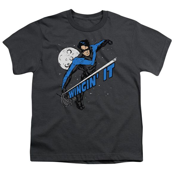 Batman Wingin It Short Sleeve Youth T-Shirt