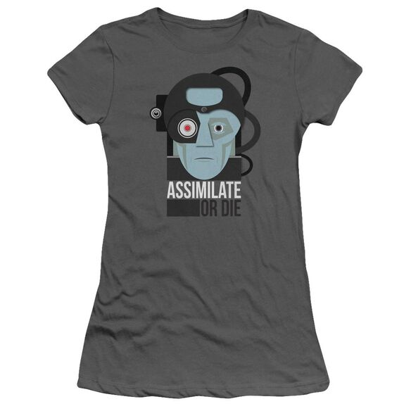 Star Trek Assismilate Or Die Hbo Short Sleeve Junior Sheer T-Shirt