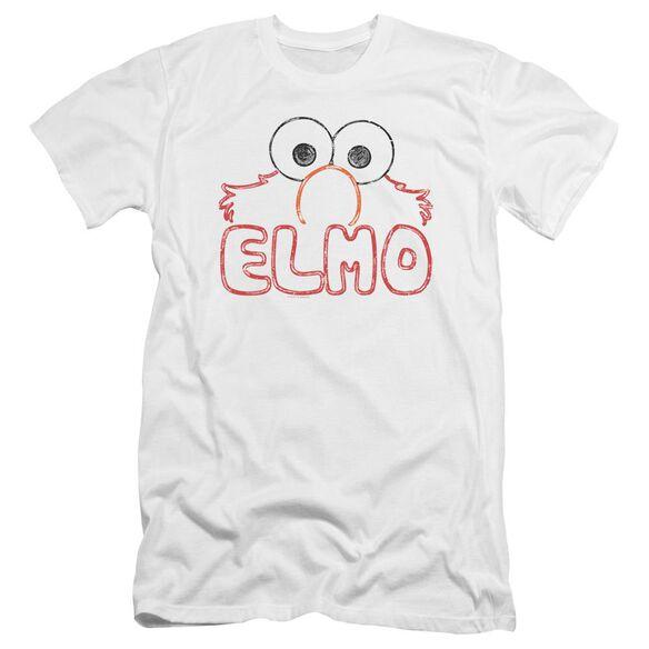 Sesame Street Elmo Letters Premuim Canvas Adult Slim Fit