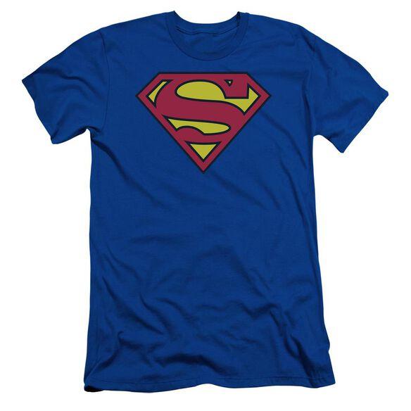 Superman Classic Logo Short Sleeve Adult Royal T-Shirt