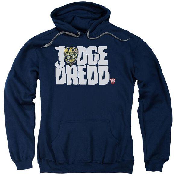 Judge Dredd Logo Adult Pull Over Hoodie