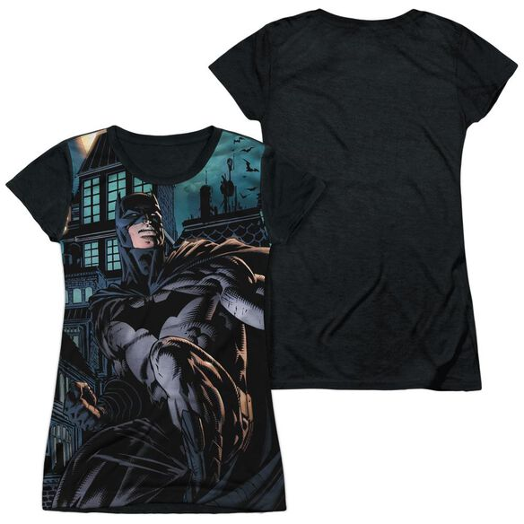 Batman Coming For You Short Sleeve Junior Poly Black Back T-Shirt
