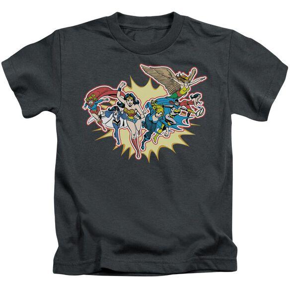 Dc Please Get Me Short Sleeve Juvenile Charcoal Md T-Shirt