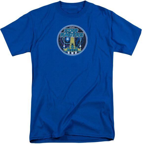 Atari Badge Short Sleeve Adult Tall Royal T-Shirt