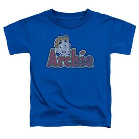 Archie Comics Distressed Archie Logo Short Sleeve Toddler Tee Royal Blue Lg T-Shirt
