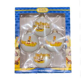 The Beatles - Yellow Submarine Glass Ornaments [4 Pack)