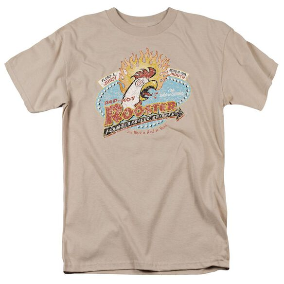 Red Hot Rooster Short Sleeve Adult Sand T-Shirt