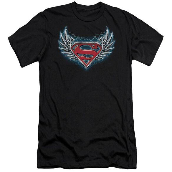 Superman Steel Wings Logo Short Sleeve Adult T-Shirt