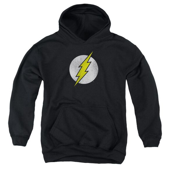 Dc Flash Flash Logo Distressed Youth Pull Over Hoodie